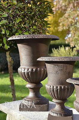 Klassische Vase, 30 cm, für außen+innen, Pflanzgefäß Amphore Gusseisen frostfest