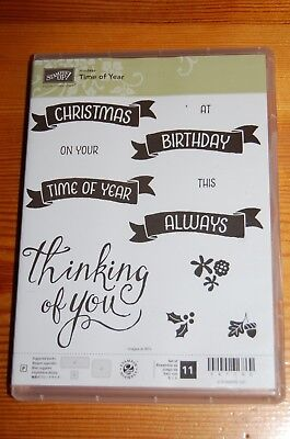 Stampin Up - 'Time of the Year' Clear Stamps.