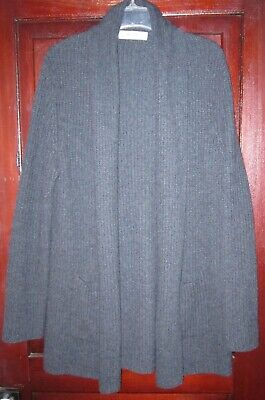 Organic John Patrick XS Cardigan Sweater Coat Shawl Open Pockets Ribbed Knit