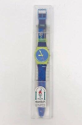 Swatch Official 1996 Atlanta Olympic Games Watch New in Case Unisex Collectible