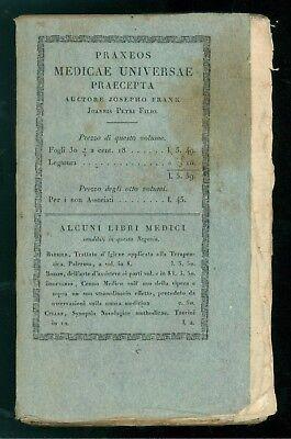 FRANK JOSEPHO PRAXEOS MEDICAE UNIVERSAE PRAECEPTA MORBIS OCULORUM BALBINI 1822