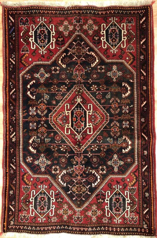 Perfect Persian - 1940s Antique Tribal Carpet - Nomadic Rug - 3.6 X 5.2 Ft.