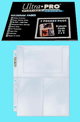 25 ULTRA PRO PLATINUM 3-POCKET 4x6 Pages Sheets Photo Currency Coupon Post Card](Post Coupons)