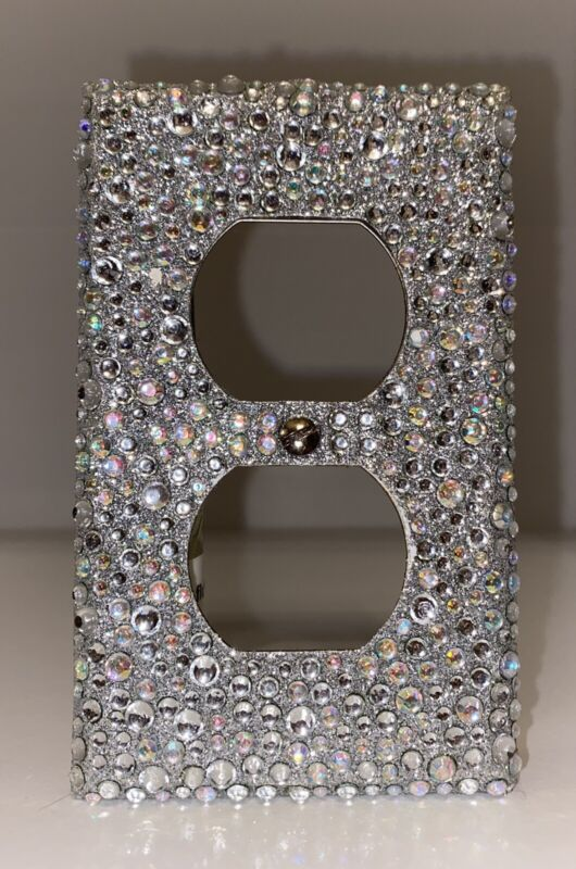 Bling AB Rhinestone Wall Light Switch Plate Outlet Cover