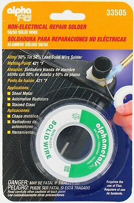 Non Electrical Repair Solder 50 Tin 50 Lead 18 Dia 4oz Spool Alpha Fry 33505