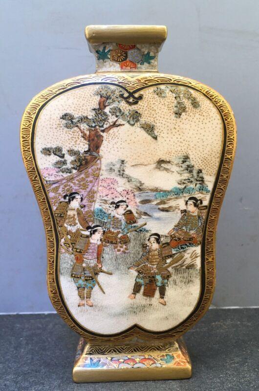 Japanese Meiji Small Satsuma Fan-shaped Vase