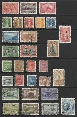 Lot 341-2021:  363 Used Canada Stamps with 19 Official Stamps