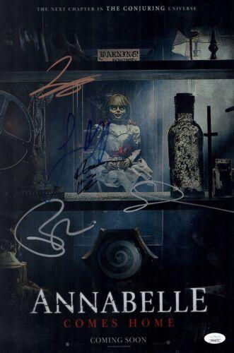 James Wan ANNABELLE COMES HOME Cast X5 Signed 11x17 Photo Autograph JSA COA