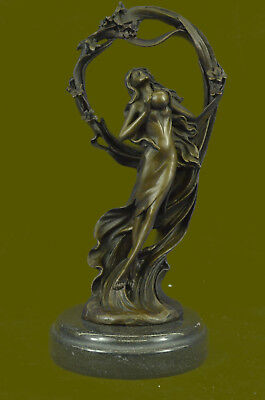 Art Deco Nouveau Hot Cast Bacchus Godess of Love Artwork Art Nouveau Statue Sale - Godess Of Love