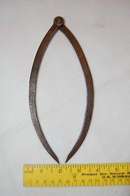 Antique Vintage Metal Caliper Gauge Carpenter Tool