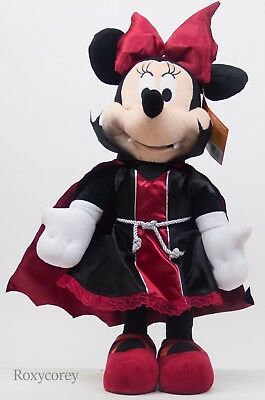 Halloween Disney 25 in Minnie Mouse Red & Black Vampire Porch Greeter NWT