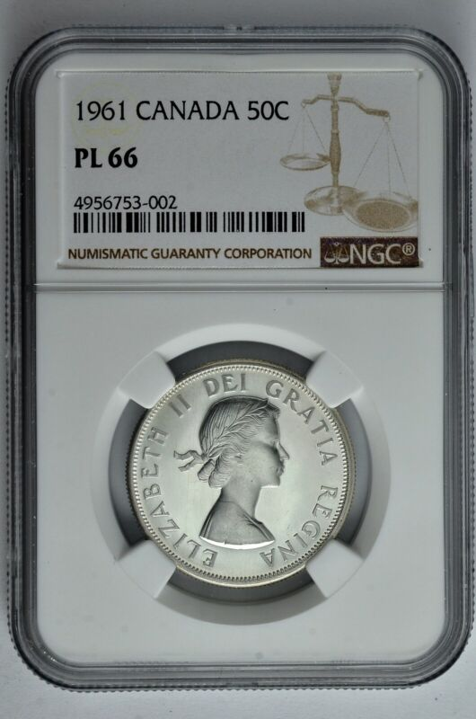 1961 50c Canada Silver Half Dollar NGC PL 66