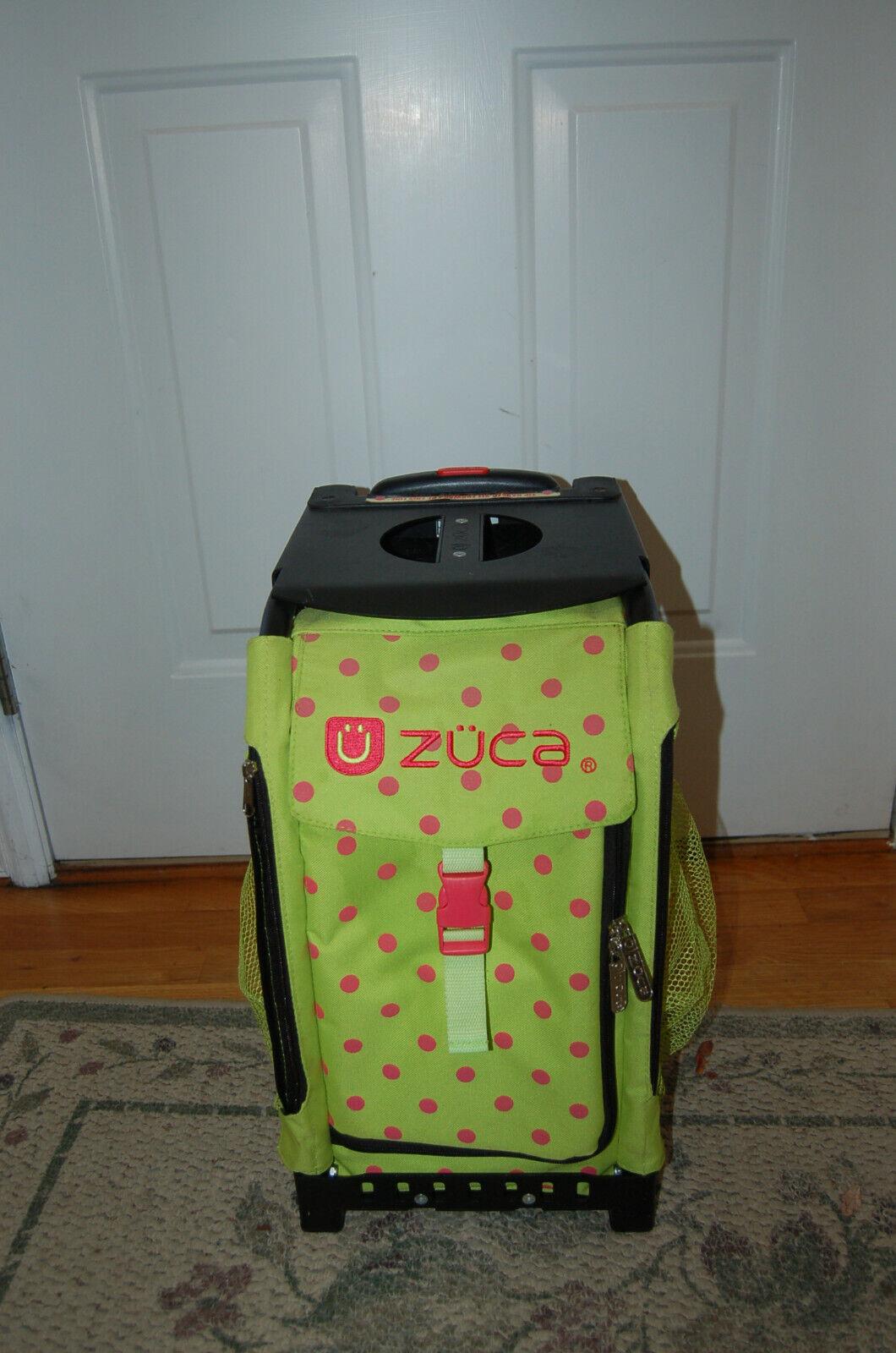 ZUCA Sport Spotz Bag Bright Green W/ Hot Pink Spots W Frame MINT  - $45.00