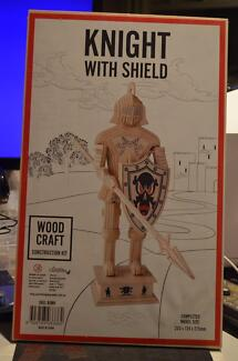 knight With Shield Wooden 3D Puzzle