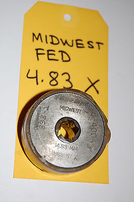 Federal 4.83mm 0.19016 X Master Bore Gage Setting Ring Calibration