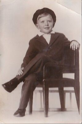 1950s Handsome young boy dandy in festive dress fashion old Russian Soviet photo
