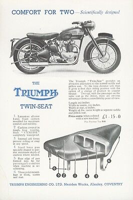 Triumph Twin Seat Flyer original  new old stock Sprung Hub