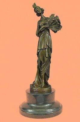 Art Deco Bronze Sculpture Wealthy Woman 1920`s Fashion Art Home Office Decor