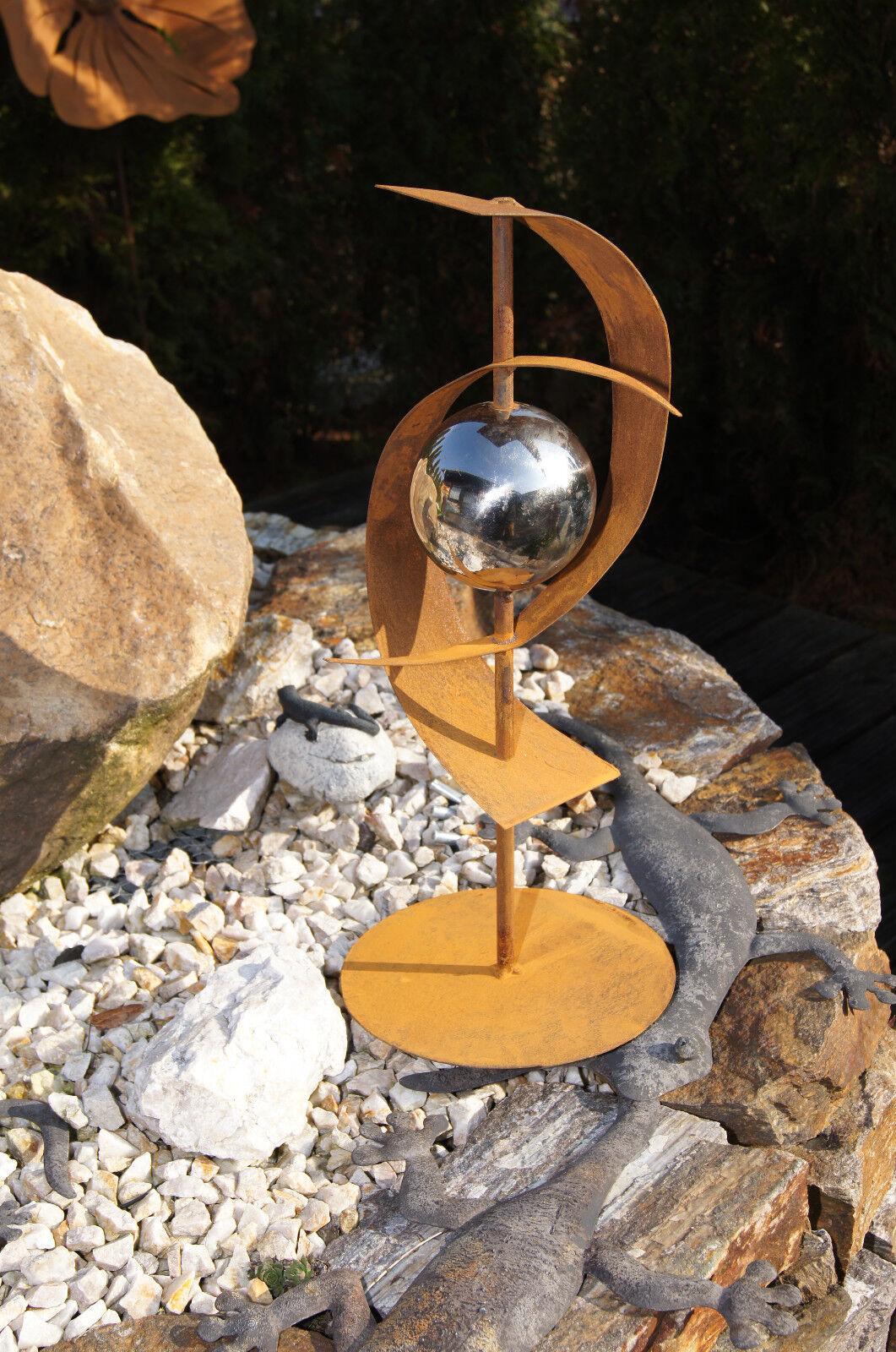 Skulptur futura edelrost rost metall gartendeko auch f r s ule neu eur 26 00 picclick de - Metall gartendeko ...