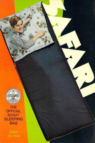 SAFARI Official Sleeping Bag AD  Boy Scouts of America 6x9 postcard AD BACK
