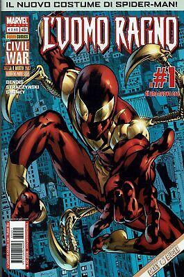 L'Uomo Ragno n. 451 Civil War nuovo costume di Spiderman ed.Panini Comics