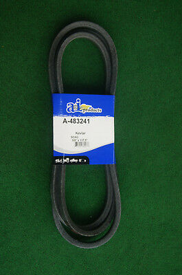 REPLACEMENT for SCAG 483241 MOWING DECK DRIVE BELT made with KEVLAR ()