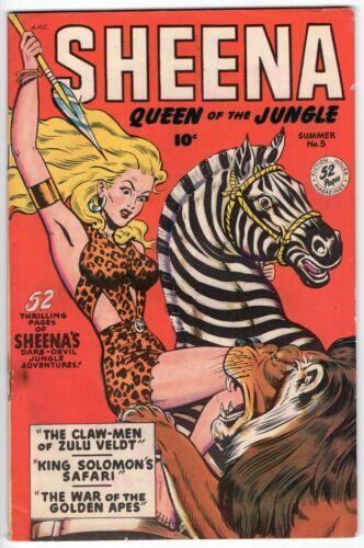 SHEENA QUEEN OF THE JUNGLE #5 MATT BAKER FICTION HOUSE 1949 FN