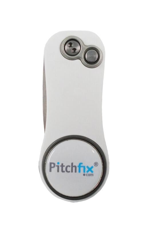 NEW Pitchfix Hybrid 2.0 White/Green Divot Tool/Ballmarker/Pencil Sharpener