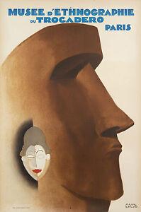 Affiche-Originale-Paul-Colin-Musee-d-039-Ethnographie-du-Trocadero-Paris-1930