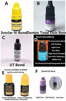 Dental Bond Light Cure Adhesive Composite Resin Bonding Agent Totalself Etching