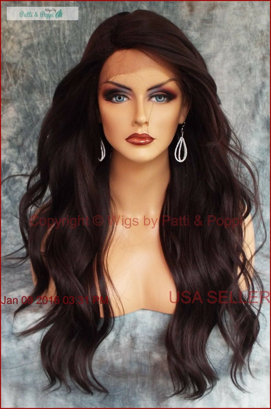 LONG LOOSE BEACHY WAVES WIG HEAT SAFE STUNNING COLOR #4 ...