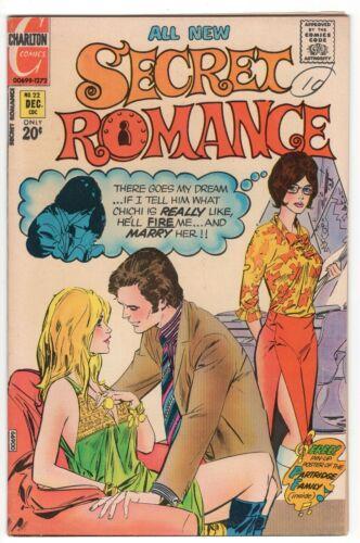SECRET ROMANCE #22 CHARLTON COMICS ROMANCE 1972 VF