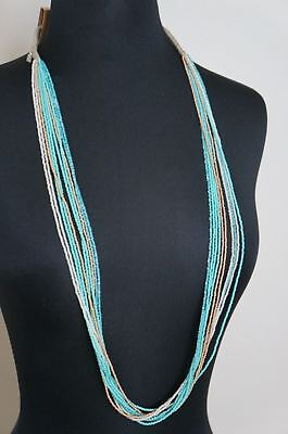 NEW Chan Luu Turquoise Gold White Seed Bead 39