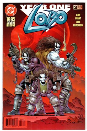 LOBO ANNUAL #3    NM+ (9.6) condition!  YEAR ONE Cover/Story!  1995   Near Mint+