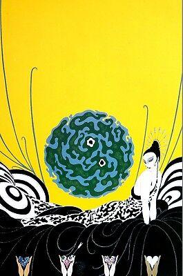 Erte 1982 SELECTION of a HEART ROARING TWENTIES REMEMBERED Art Deco Print Matte