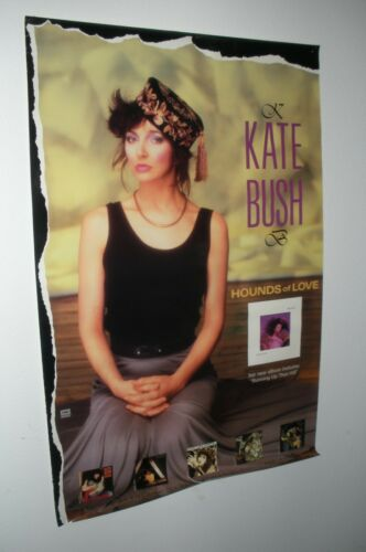 "Vtg 1985 KATE BUSH Hounds Of Love Promo Poster! 24"" x 36""!"
