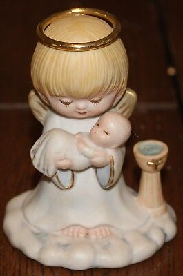 Baptism Angel Figurine - Angel Figurine Holding a Baby (Baptism)
