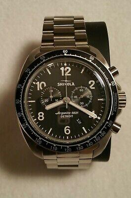 Shinola Rambler 600 Ltd. Edit. Titanium Watch 44mm Black Chronograph/Chrono