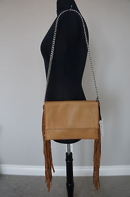 NEW JJ Winters Leather Fringe Roxie Convertible Clutch Shoulder Bag SRP$285 ()