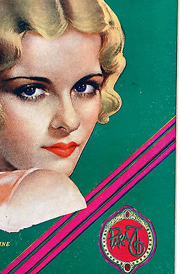 Para Ti Spanish Argentina 1930 Matted Art Cover ROSINE - BLONDE BEAUTY EARRINGS