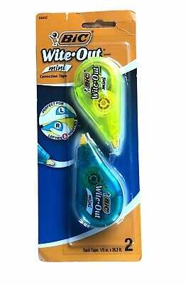 New Bic Wite-out Correction Tape Minis 2 Tapes Per Package
