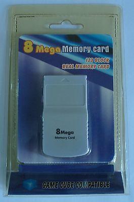 GameCube tarjeta de memoria 8 mega - 123 bloques.