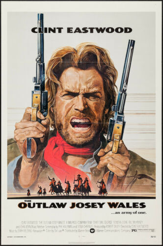 THE OUTLAW JOSEY WALES original 1976 27x41 one sheet movie poster CLINT EASTWOOD