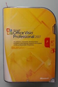 MS Office Visio Professional 2007 Pro Win 32 Vollversion Deutsch D87-02789 Neu