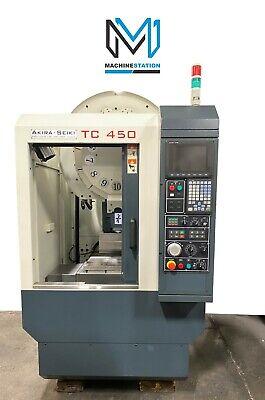 Akira Seiki Tc-450 Cnc Drill Tap Vertical Machining Center Mill 10000 Rpm 2008