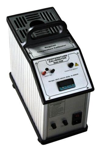 Portable Dry Block Medium Temperature Calibrator up to 650°C, Dual Voltage