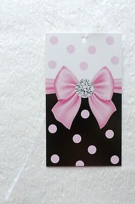 100 Hang Tags Boutique Tags Price Tags Cute Pink Bow Retail Tags W Plastic Loops