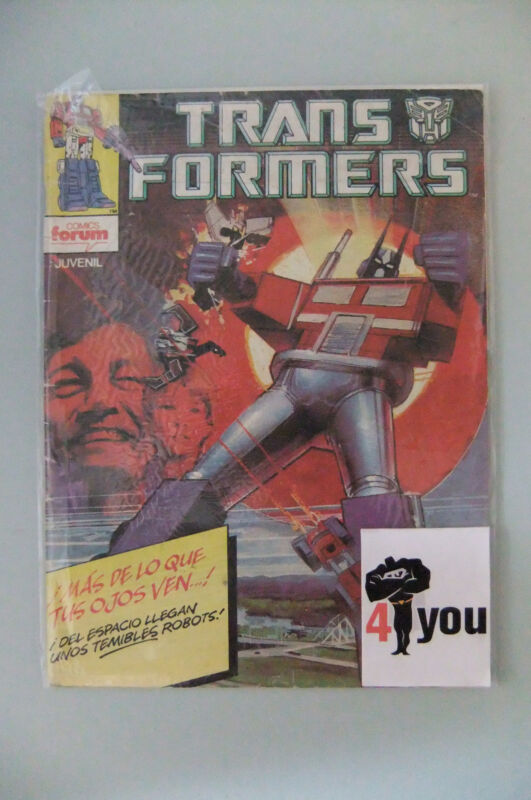 2.5 GD+ GOOD+ TRANSFORMERS  # 1  SPANISH EURO VARIANT  OWP YOP 1985