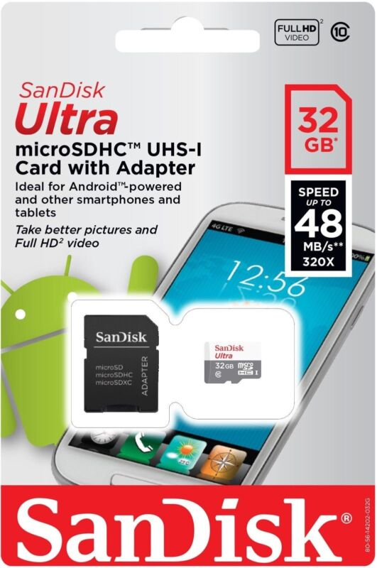 SanDisk 32GB 32G Ultra Micro SD Class 10 TF Flash SDHC Memory Card mobile Drone