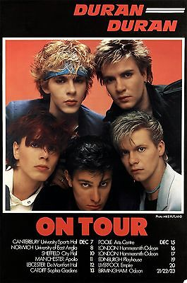 "DURAN DURAN ""ON TOUR"" 1982 UK CONCERT POSTER-New Wave, Synthpop,Dance-rock Music"